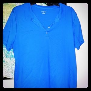 Blue polo type top